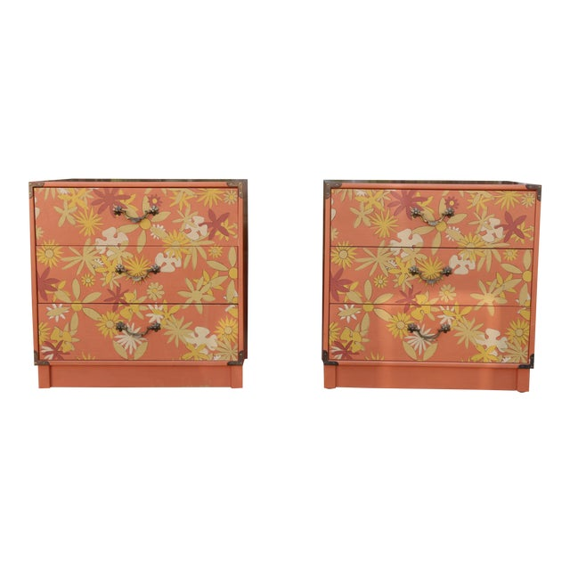 Retro Pair of Drexel Chests of Drawers For Sale