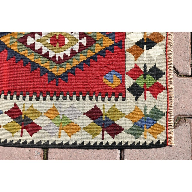 Turkish Tribal Hand-Knotted Kilim Rug - 1′10″ × 3′4″ For Sale In San Francisco - Image 6 of 6