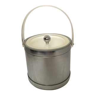 1980's Georges Briard Lucite & Metallic Ice Bucket For Sale