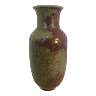 California Studio Pottery Vase by Leon Moburg For Sale