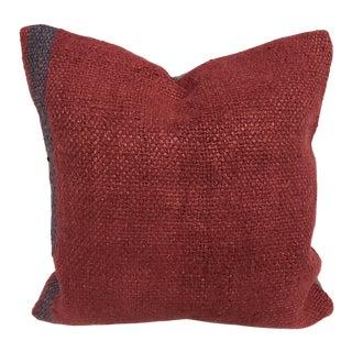 Modern Decor Vintage Turkish Handmade Red Kilim Pillow Cover For Sale