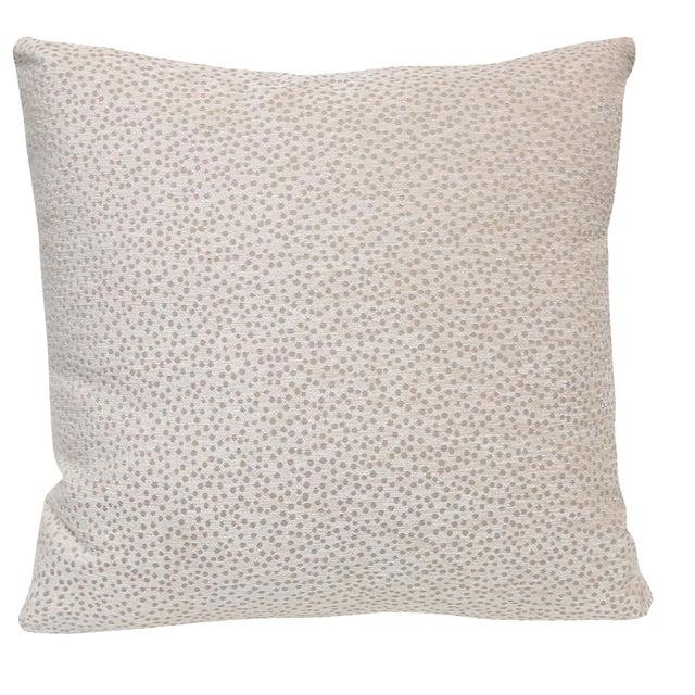 Kravet Chenille Polka Dot Pillow For Sale