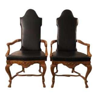 Vintage Mid Century Drexel Arm Chairs - A Pair For Sale
