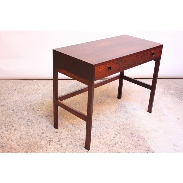 Danish Modern Diminutive Danish Modern Rosewood Desk by EJM Skive For Sale - Image 3 of 12