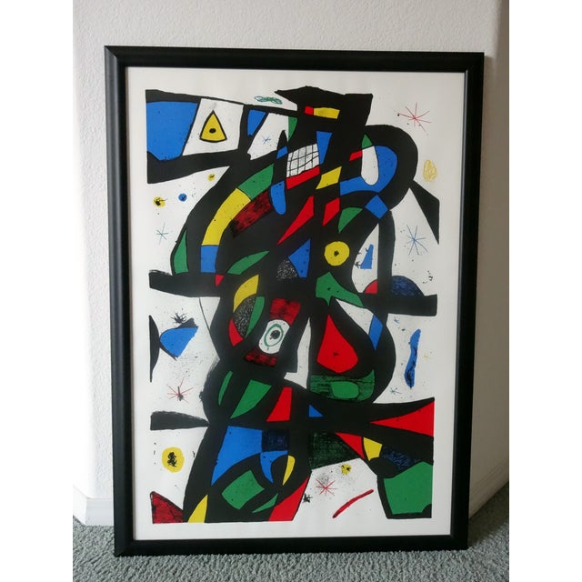 Framed Colorful Abstract Print - Image 3 of 3
