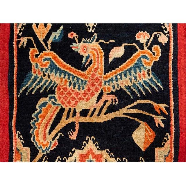 Folk Art Antique Tibetan Woolen Saddle Blanket For Sale - Image 3 of 6