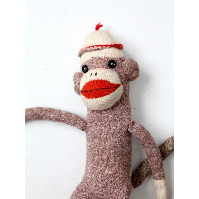 Mid 20th Century Vintage Sock Monkeys - Set of 3 For Sale - Image 5 of
