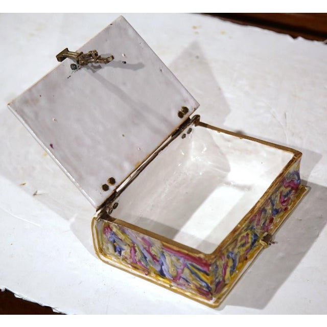 French Book Shaped Porcelain Jewelry Box For Sale - Image 4 of 9