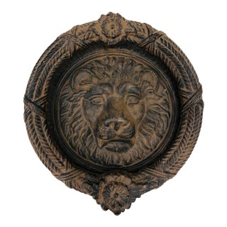 Large Iron Lion Door Knocker