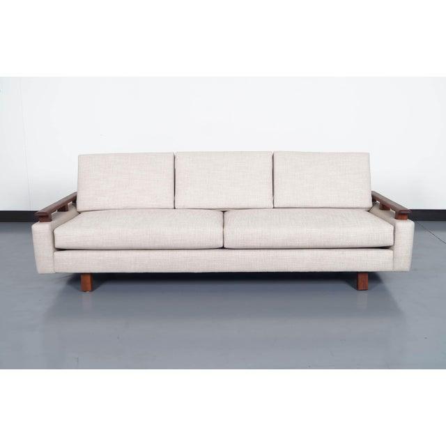 Mid Century Modern Walnut Sofa - Image 2 of 6