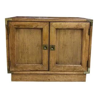 Vintage Mid Century Modern Campaign Cabinet by Lane Furniture Company For Sale