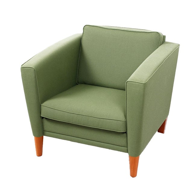 Green Danish Modern Lounge Chairs - A Pair - Image 1 of 5