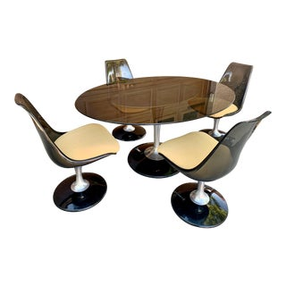 Vintage Chromcraft Saarinen Tulip Dining Set For Sale