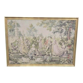 Large French Style Courtyard Tapestry