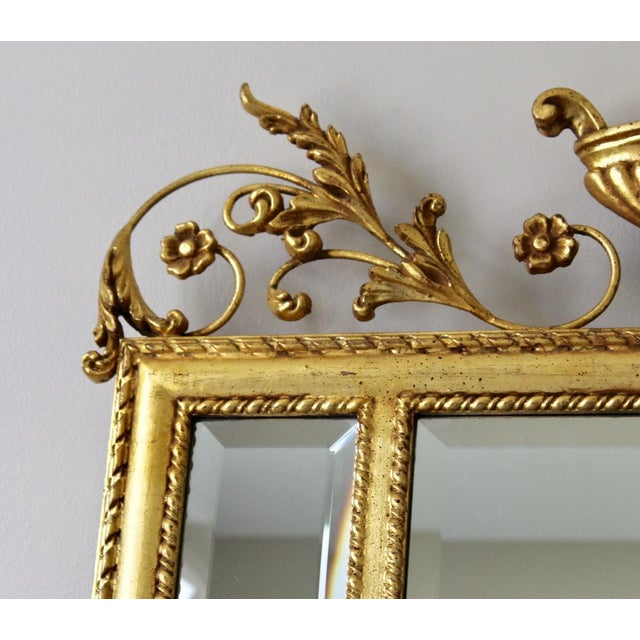 1980s 1980s Neoclassical LaBarge Ornate Style Mirror For Sale - Image 5 of 11