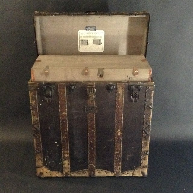 Metal 19th Century Trunk by h.c. Faber and Son Co. For Sale - Image 7 of 10