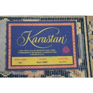 Karastan 4.3' x 6' Blue Heriz Area Rug #748 Preview