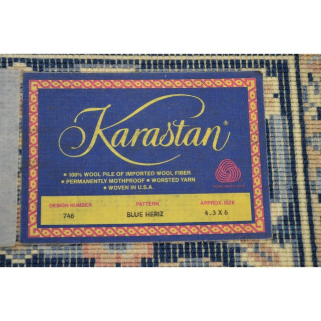 *STORE ITEM #: 17044-fwmr Karastan 4.3' x 6' Blue Heriz Area Rug #748 AGE / ORIGIN: Approx 25 years, America DETAILS /...
