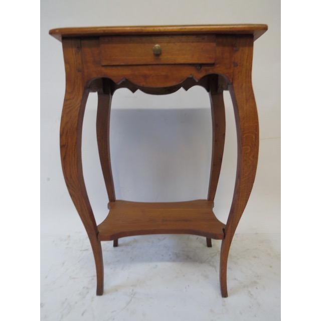 Antique Oak Side Table - Image 3 of 7