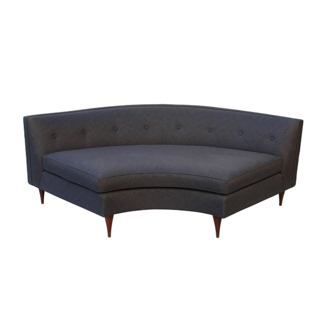 1960s Tufted Mid-Century Settee, Banquette, or Loveseat For Sale - Image 5 of 10