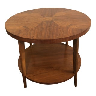 1950s Mid-Century Modern Tiger Maple Coffee Table For Sale
