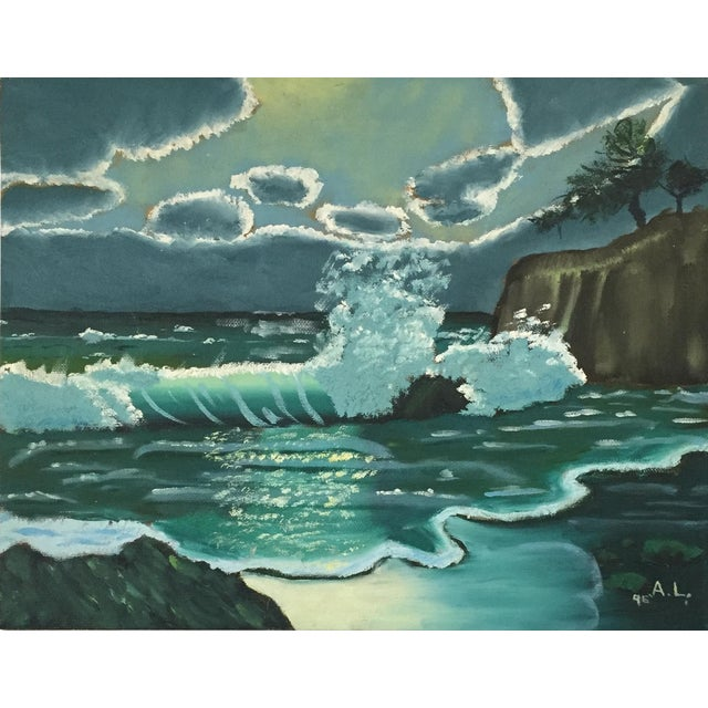 Ocean Acrylic Painting - Image 1 of 9