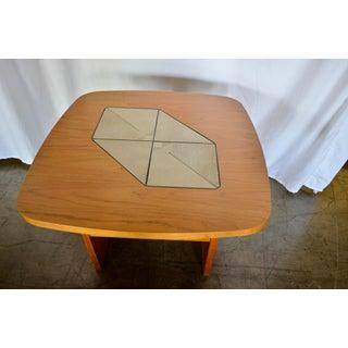 1970s Mid-Century Modern Teak Tile Side Table Preview
