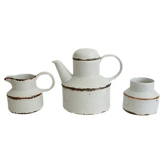 English Stoneware Serveware - Set of 3