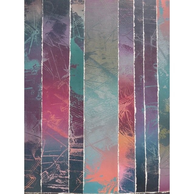 """""""Geometric Stripes"""" Original Abstract Print by Martha Holden - Image 2 of 4"""