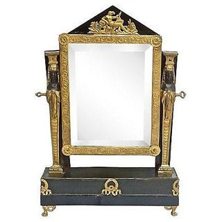 Antique French Empire Vanity Mirror For Sale
