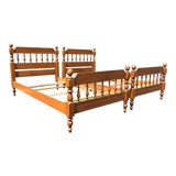 Image of Solid Maple Twin Beds- a Pair For Sale