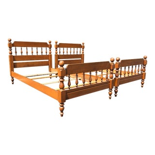 Solid Maple Twin Beds- a Pair For Sale