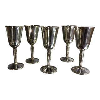 Pilgrim Silverplate Mini Shot Glasses - Set of 5 For Sale