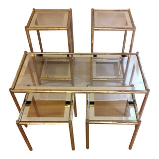 Mid 20th Century Maison Lancel Coffee Tables - Set of 5 For Sale