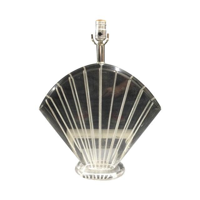Van Teal Hollywood Regency Lucite Shell Lamp - Image 1 of 4
