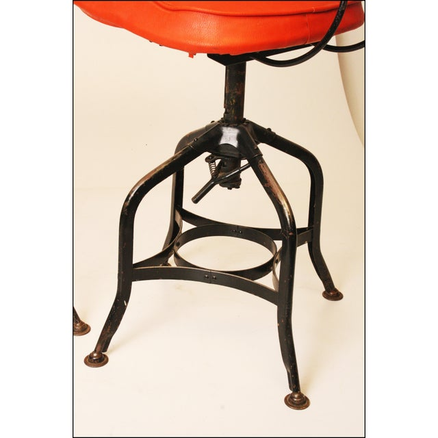 Vintage Industrial Toledo Drafting Stools - A Pair - Image 5 of 11