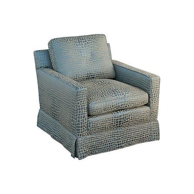 Faux Crocodile Sofa & Club Chair - Image 4 of 7