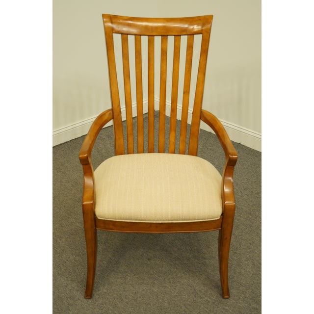 Mission Late 20th Century Thomasville Furniture Cinnamon Hill Collection Mission Style Dining Arm Chair For Sale - Image 3 of 11