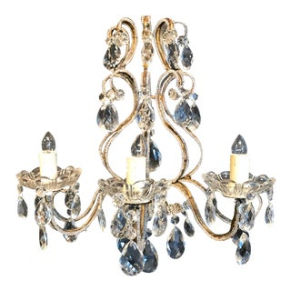 Italian Beaded Sconce For Sale