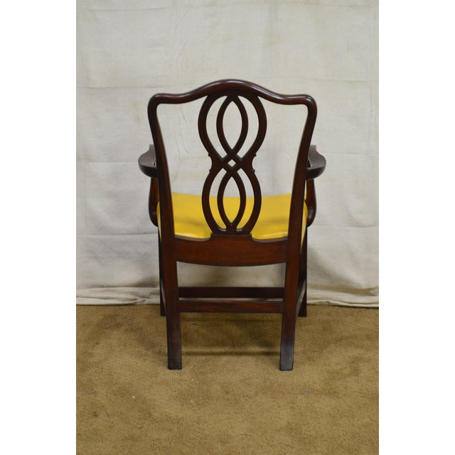 George III Chippendale Style Antique Mahogany Dining Chairs - Set of 8 For Sale In Philadelphia - Image 6 of 13