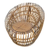 Image of Franco Abini Style Rattan Bamboo Chair For Sale