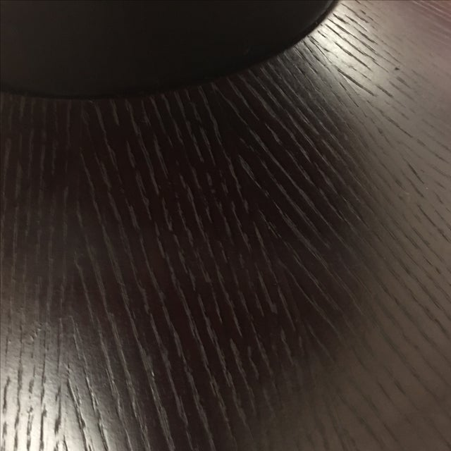Contemporary Glass Top Pedestal Dining Table - Image 4 of 8