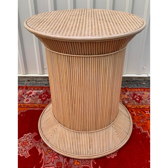 Wood Split Reed Bamboo Rattan Dining Table Base in Crespi Style For Sale - Image 7 of 12