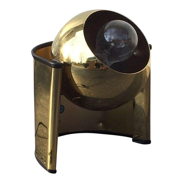 "Mid-Century Brass ""Eyeball"" Spotlight Lamp - Image 7 of 7"