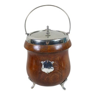 19th Century English Biscuit Barrel For Sale