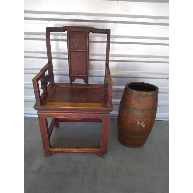 Late 19th Century Antique Chinese Officials Chair For Sale - Image 10 of 13