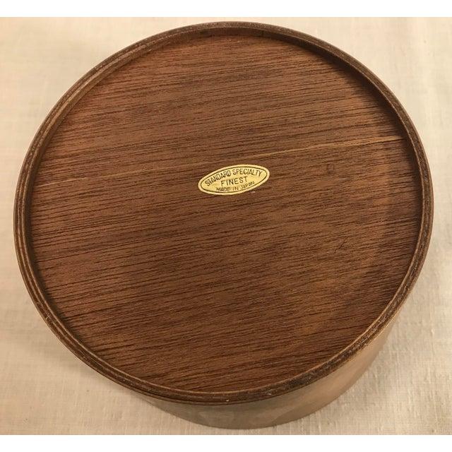 Vintage Wooden Nesting Snack Bowls - Set of 4 - Image 8 of 10