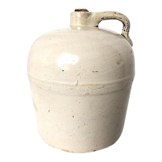 Antique French Stoneware Jug For Sale