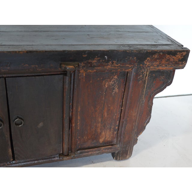 Vintage Rustic Chinese Low Media Cabinet For Sale In Los Angeles - Image 6 of 10