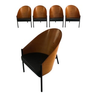 "Mid Century Modern ""Pratfall"" Lounge Chairs Designed by Philippe Starck- Set of 6 For Sale"